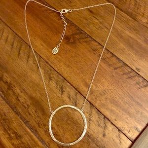Silpada Duomo Circle Oxidized Hammered Necklace